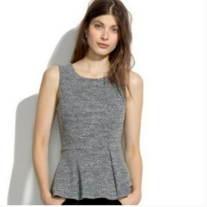 MADEWELL/ Heather Gray Peplum Top
